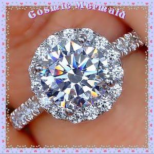 🆕💎2.8Ct Halo Diamond 14K Wedding Ring💎